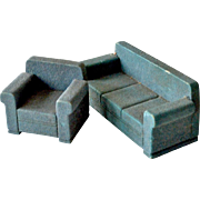 Dollhouse Living Room Set Sofa Chair