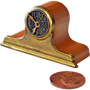 Miniature Mantel Clock Wood