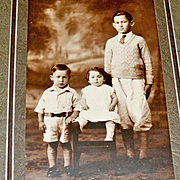 Photograph Two Boys and Baby Nouveau Folder