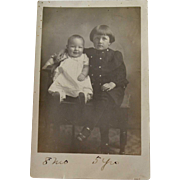 RPPC Child Happy Little Baby Solemn Boy