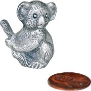 Miniature Koala Bear Pewter Figurine