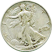 Walking Liberty 1943 Silver Half Dollar