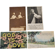 Four Religious Postcards