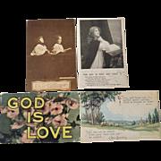 Four Religious Postcards