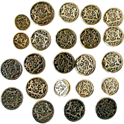 Metal Netherlands Coat of Arms Buttons 24 In All