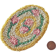 Dollhouse Miniature Hand Hooked Rug