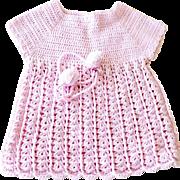 Doll Baby Hand Crochet Dress Dusty Pink