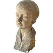 Sculpture Bust of a Young Boy M.E. Cramer
