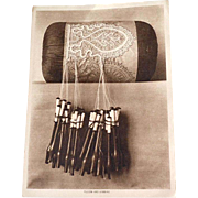Lace and Lace Making 1917 Sepia Print