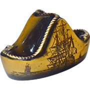 Nautical Pipe Rest with Clipper Ships