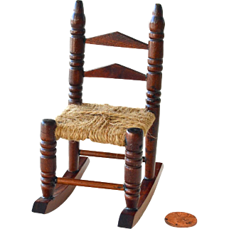 Dollhouse Rocking Chair Woven Seat