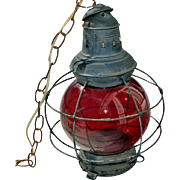 Railroad Style Lantern As Found 15 Inches Electrified