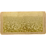 Stereoview 1893 Columbian Exposition Surging Sea of Humanity