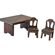 Dollhouse Table and Two Chairs