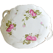 Rosenthal Bavaria Cake Plate with Handles Cabbage Roses