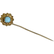 Stick Pin Flower with Turquoise Center