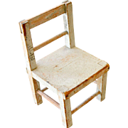 Painted Wood Doll Chair