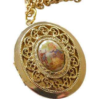 Porcelain Locket Necklace
