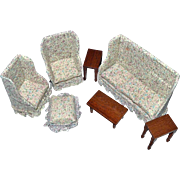 Dollhouse Upholstered Parlor Living Room Seven Pieces