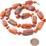 Necklace Carnelian Agate Jumbo Beads