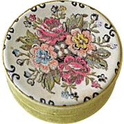 Old Tapestry Dresser Trinket Box Italy