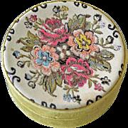 Old Tapestry Dresser Trinket Box Italy
