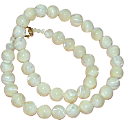 Necklace Mother of Pearl Shell Large Beads