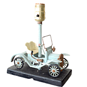 Lamp Marvel Model Car on Cast Metal Base