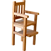 Wood Dollhouse High Chair As Is