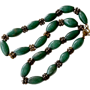 Necklace Vintage Jade on Chain