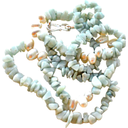 Necklace Amazonite and Freshwater Pearls