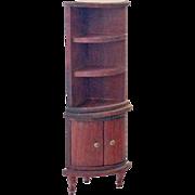 Dollhouse Wood Corner Cabinet