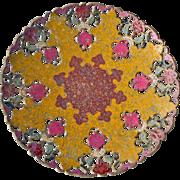 Pierced Enamel on Brass Plate