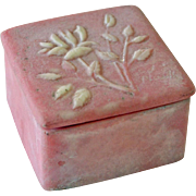 Dresser Trinket Box Pink White