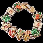 Christmas Enamel Slide Bracelet Tofa
