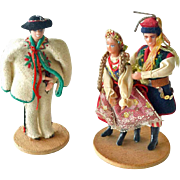 Vintage Folk Dolls Handmade in Poland