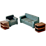 Dollhouse Living Room Sofa Chair and End Tables