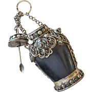 Asian Snuff Bottle with Chain