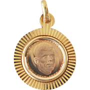 Pendant 18K Gold John F. Kennedy Commemorative Medal