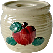 Pottery Apple Candle Holder or Candlestick