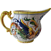 Italian Pottery Creamer Small Pitcher