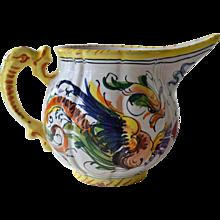 Italian Pottery Creamer Small Pitcher