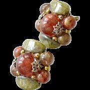Earrings Trifari Crown Vintage