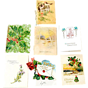 Seven Christmas Greeting Cards  One German Gel