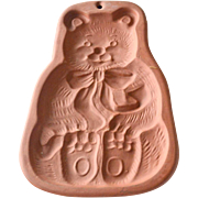 Bear Cookie or Candy Mold Terracotta