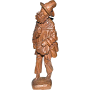 Vagabond or Hobo Carved Wood  Figurine