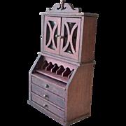 Dollhouse Wood Secretary Desk As Found
