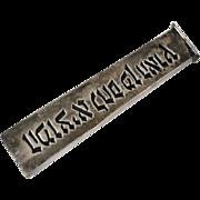 Sterling Challah Knife Handle Israel