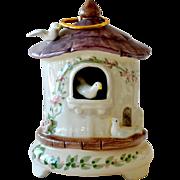 Music Box Schmid Bird House Yellow Bird 1983