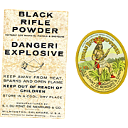 Two DuPont Rifle Powder Paper Labels